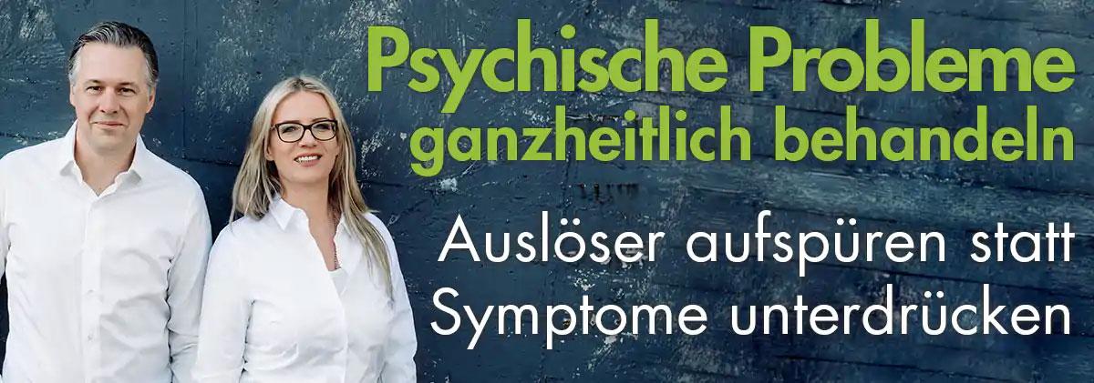 Psychische Probleme ganzheitlich behandeln. Auslöser aufspüren statt Symptome unterdrücken.